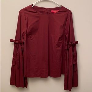NWT Catherine burgundy bell sleeve blouse. Small